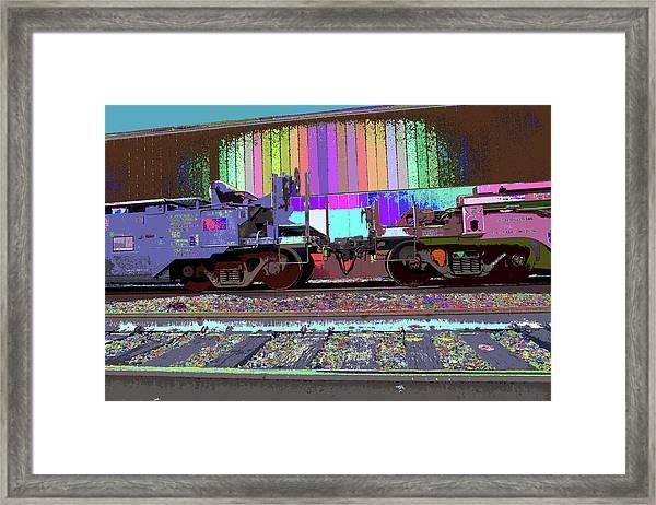 Train Parked Framed Print