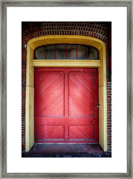 Train Station Doorway Framed Print