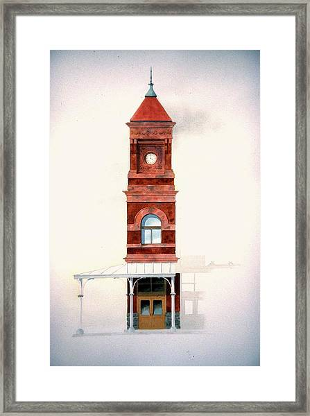 Train Station Tower Framed Print