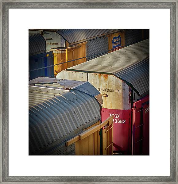 Framed Print featuring the photograph Trains - Nashville by Samuel M Purvis III