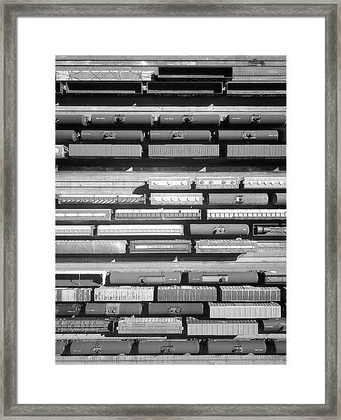 Trainyard Framed Print