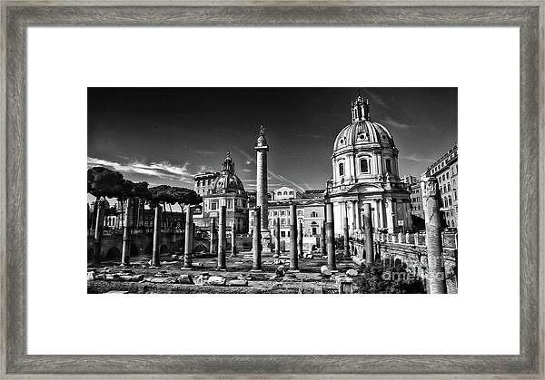 Trajan's Forum - Forum Traiani Framed Print