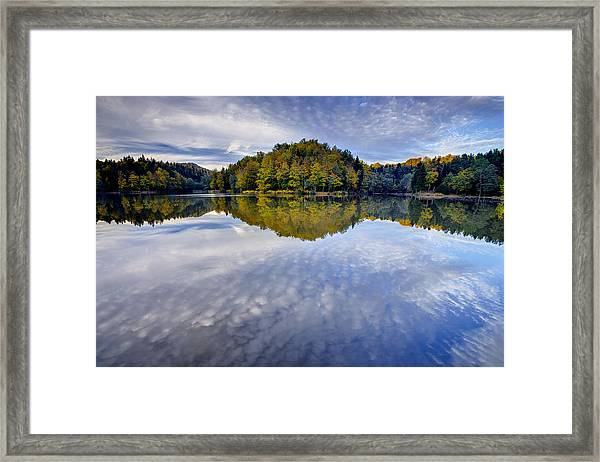 Trakoscan Lake In Autumn Framed Print