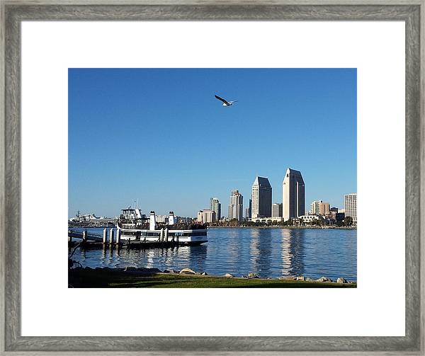 Tranquility By The Bay Framed Print