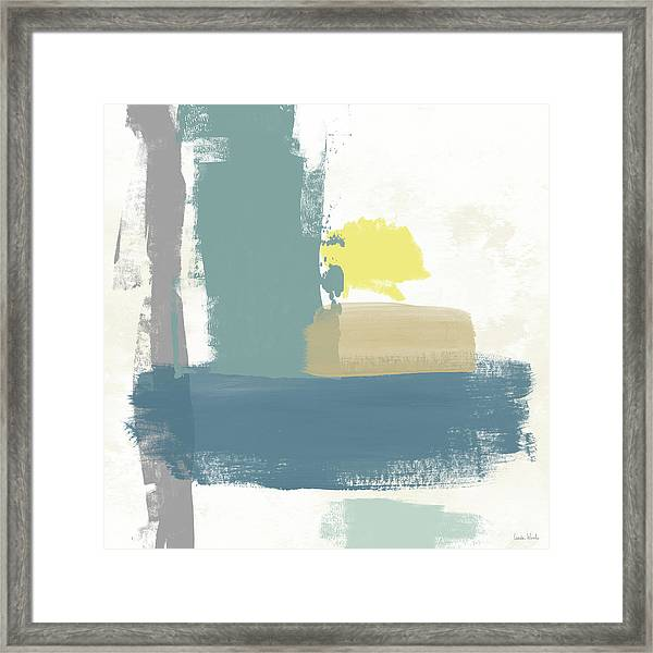 Tranquil Abstract 3- Art By Linda Woods Framed Print
