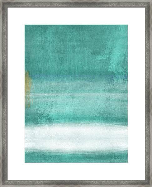 Tranquil Horizon- Art By Linda Woods Framed Print