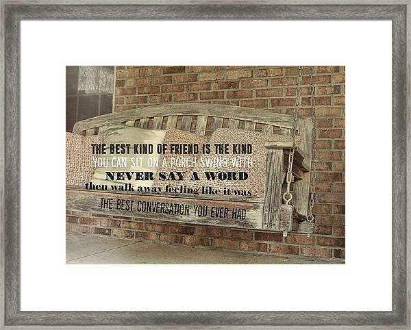 Tranquil Quote Framed Print