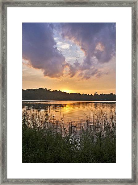 Tranquil Sunset On The Lake Framed Print