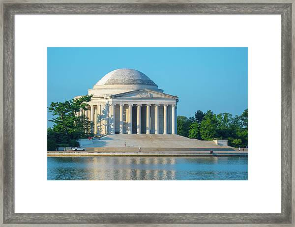 Tranquility At The Jefferson Memorial Framed Print