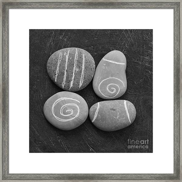 Tranquility Stones Framed Print