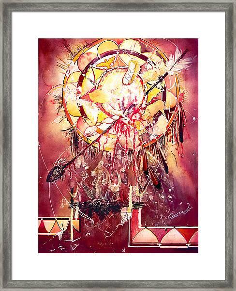 Transcending Indian Spirit Framed Print