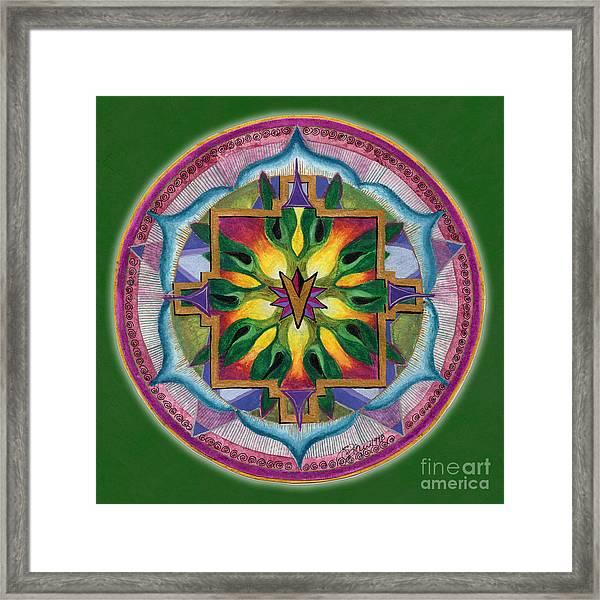 Transformation Mandala Framed Print