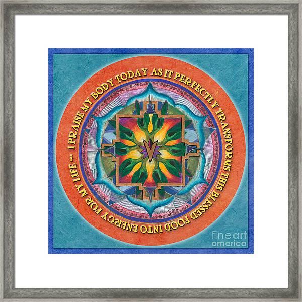 Transformation Mandala Prayer Framed Print