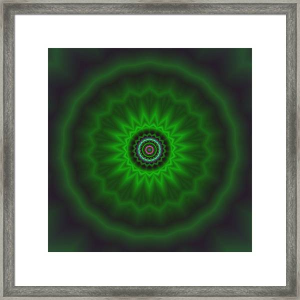 Framed Print featuring the digital art Transition Flower 2 by Robert Thalmeier