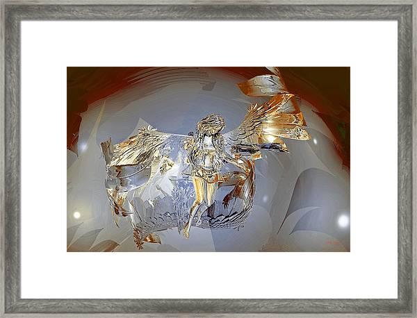 Transparent Angel Framed Print