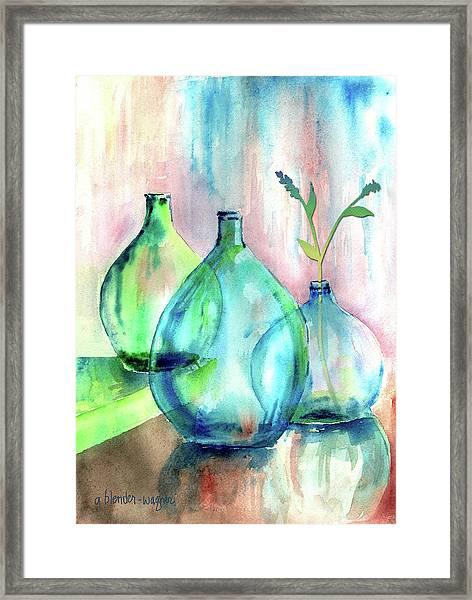 Transparent Bottles Framed Print