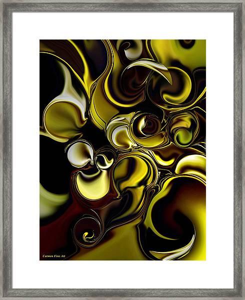 Transparent Dimension Framed Print