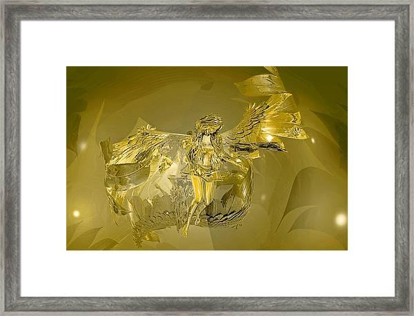 Transparent Gold Angel Framed Print