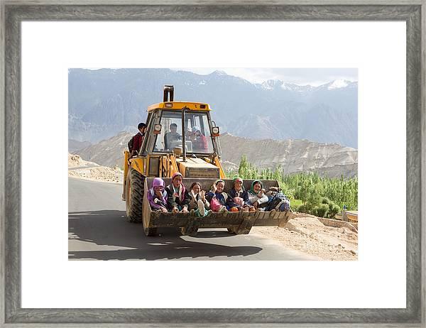 Transport In Ladakh, India Framed Print