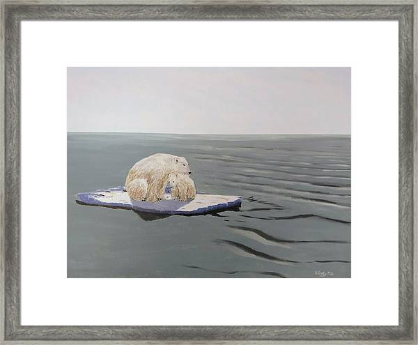 Framed Print featuring the painting Stranded by Kevin Daly