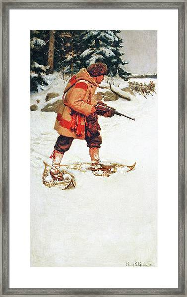 Trapper With Wolves Framed Print