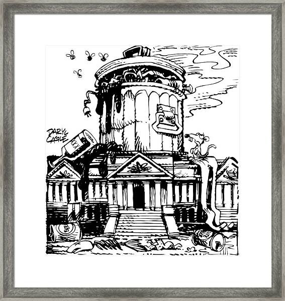 Trash Congress Framed Print