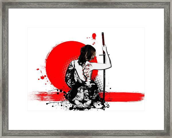 Trash Polka - Female Samurai Framed Print