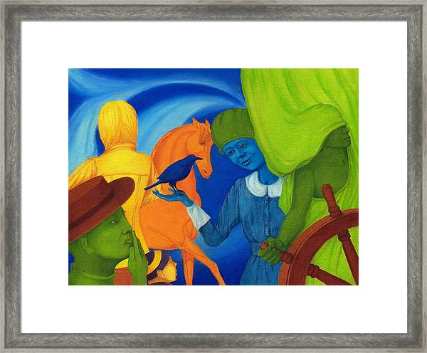 Travel In The Undefined Time. Framed Print