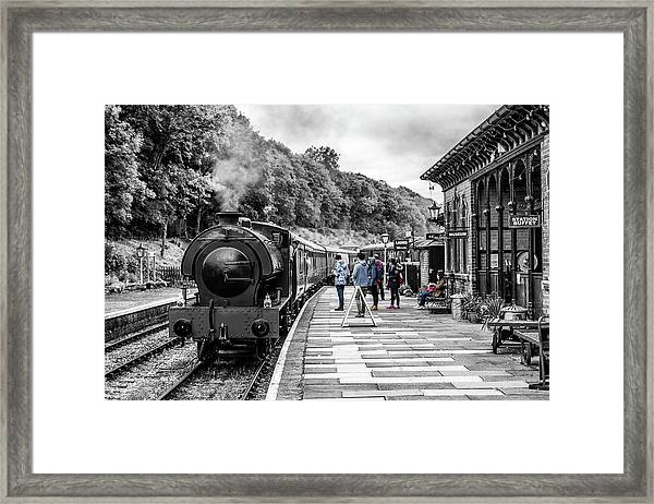 Framed Print featuring the photograph Travellers In Time by Nick Bywater
