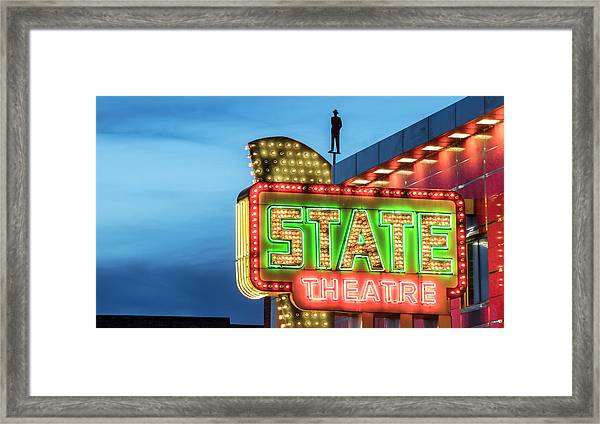 Traverse City State Theatre Framed Print