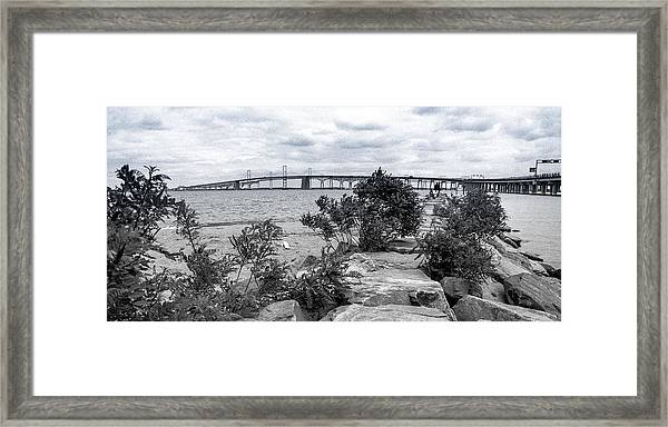 Traversing The Chesapeake Framed Print