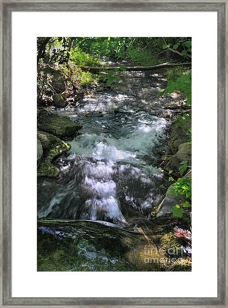 Travertine Creek Framed Print