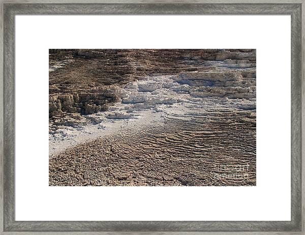 Travertine Stairsteps Framed Print