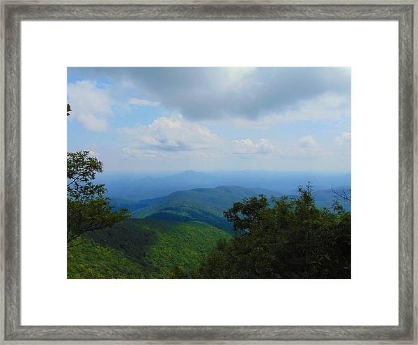 Tray Mountain Summit - North Framed Print