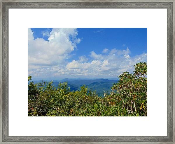 Tray Mountain Summit - South Framed Print