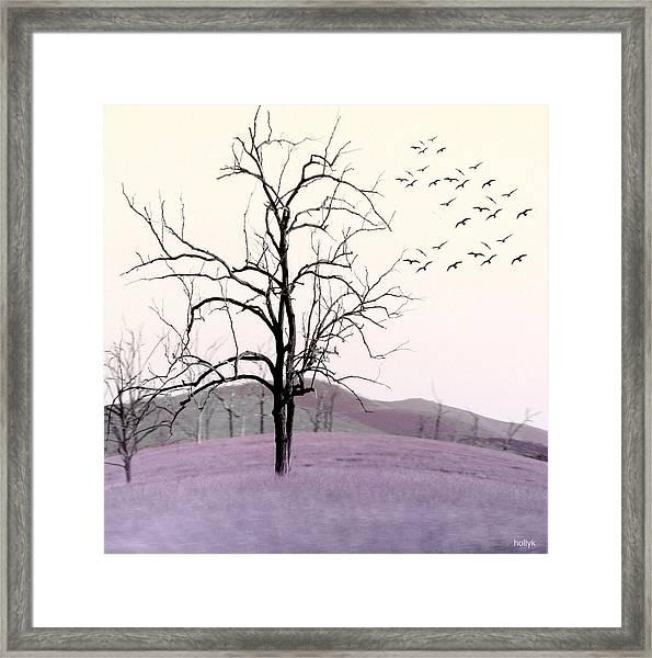 Tree Change Framed Print