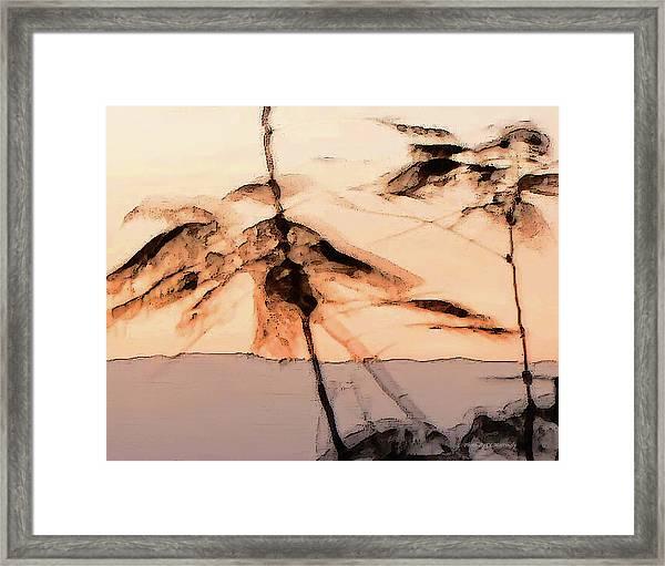 Tree In Morning Framed Print
