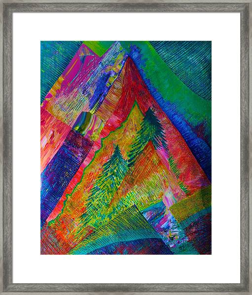 A Tree Motif Framed Print