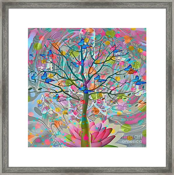 Framed Print featuring the digital art Tree Of Life by Eleni Mac Synodinos
