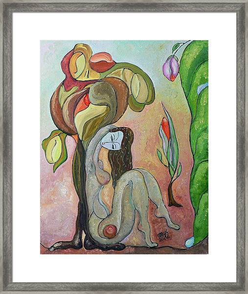 Tree Of Life Framed Print by Mila Ryk