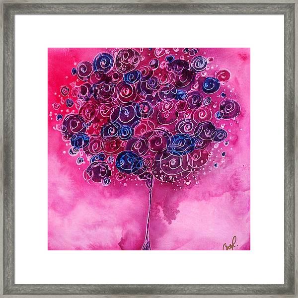 Tree Of Life Pink Swirl Framed Print
