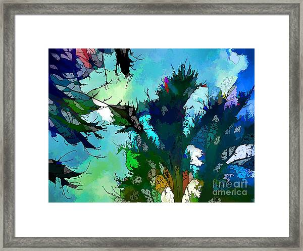 Tree Spirit Abstract Digital Painting Framed Print