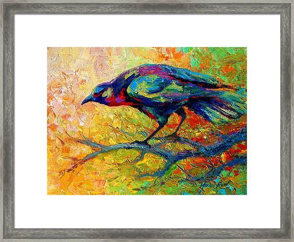 Tree Talk - Crow Framed Print