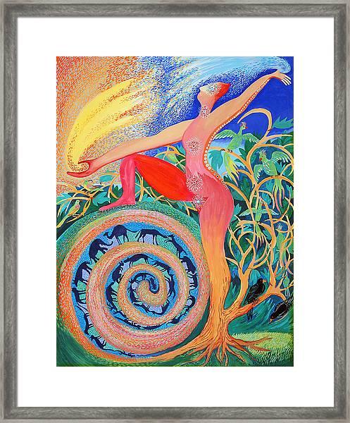 Tree Woman Framed Print