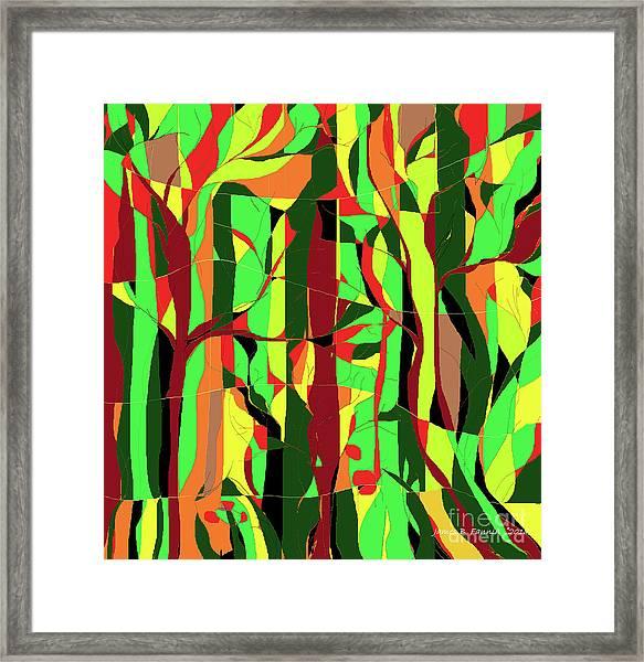 Trees In The Garden Framed Print