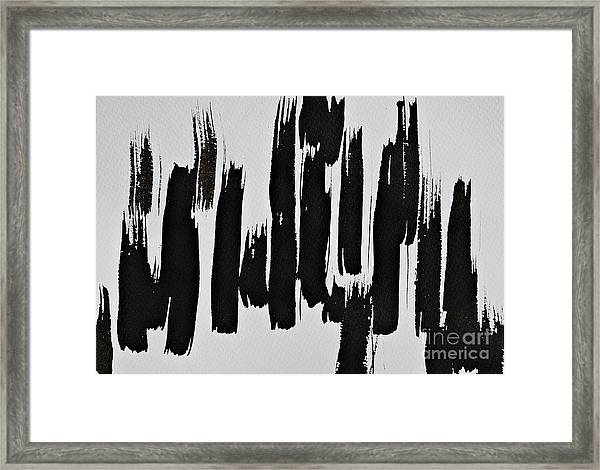 Trees In The Sand Framed Print