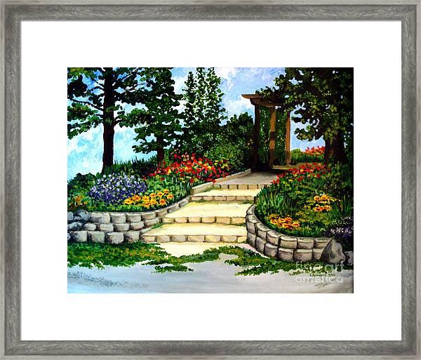 Trellace Gardens Framed Print