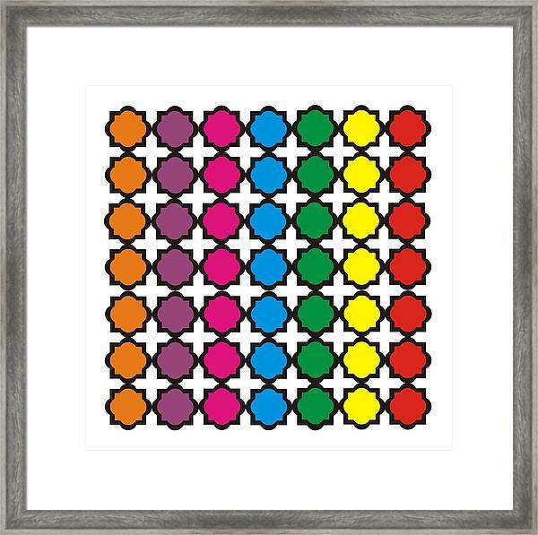 Colorful Quatrefoil Pattern Framed Print