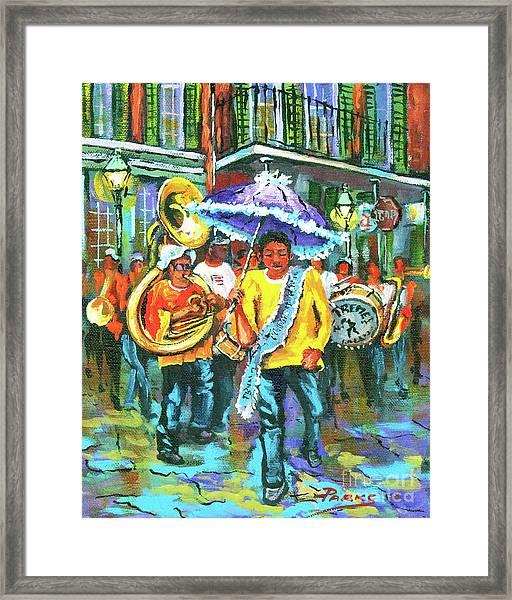 Treme Brass Band Framed Print