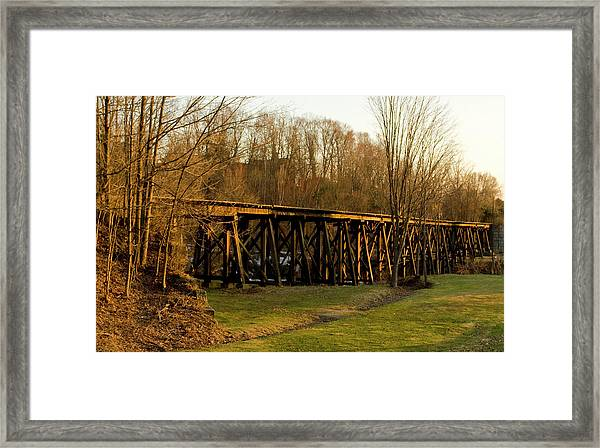 Tressel View Sunset  Framed Print